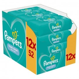 Pampers Fresh Clean Wipes Μωρομάντηλα 12 x 52 τεμ