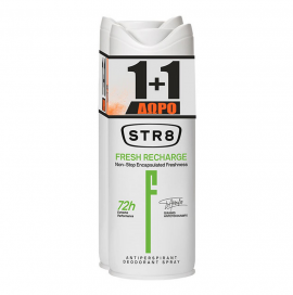 STR8 Deo Spray Fresh Recharge 150ml 1+1 Δώρο