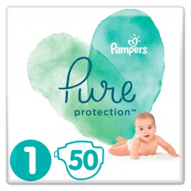 Pampers Pure Protection No.1 (2-5kg) 50 Πάνες
