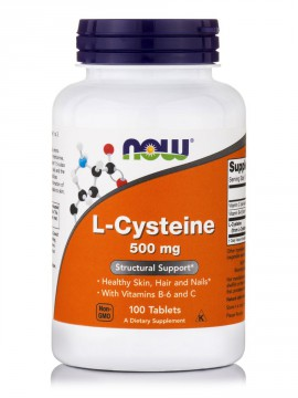 Now Foods L-Cysteine 500mg 100 tabs.