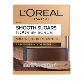 LOreal Paris Smooth Sugars Nourish Cocoa Face And Lip Scrub 50ml