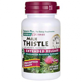 Natures Plus Milk Thistle 500mg Extended Release 30 veg.tabs