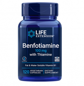 Life Extension Benfotiamine With Thiamine 100mg 120caps