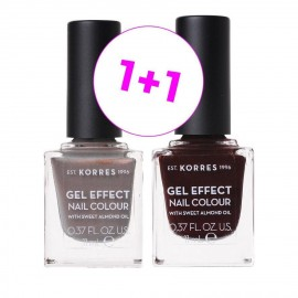 Korres Set Gel Effect Nail Colour 70 Holographic Ash 11ml + Δώρο Gel Effect Nail Colour 54 Festive Red 11ml