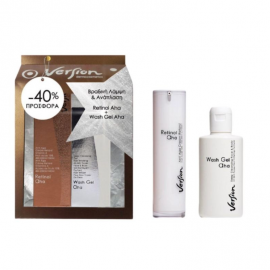 Version Set Wash Gel Aha 200ml & Retinol 10% Aha Face Cream Pump 50ml