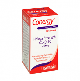 HealthAid Conergy Mega Strength CoQ-10, 30 mg, 90caps