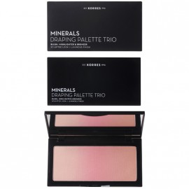 Korres Minerals Draping Palette Trio Pink Παλέτα Τριών Αποχρώσεων Για Τεχνική Draping Με Ρουζ Ηighlighter & Βronzer 21gr