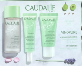 Caudalie Vinopure Discovery Box, Caudalie Vinopure Purifying Toner 50ml & Caudalie Vinopure Blemish Control Infusion Serum 10ml & Caudalie Vinopure Skin Prefecting Mattifying Fluid 15ml