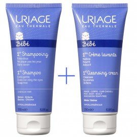 Uriage Set Baby 1st Shampooing 200ml + Baby 1st Creme Lavante 200ml