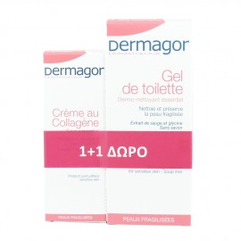 Inpa Dermagor Cream Collagene 40ml + Δώρο Dermagor Gel Surgras 200ml