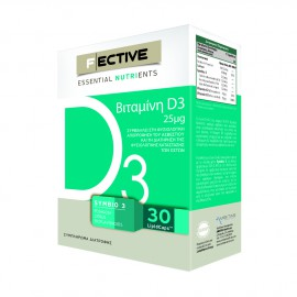 Fective Essential Nutrients Vitamin D3 25mg 30 LipidCaps