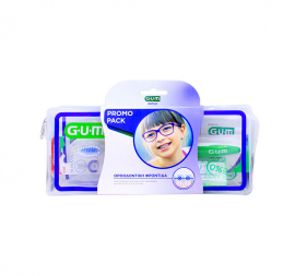 Gum Ortho Care Kit με Ορθοδοντική Οδοντόβουρτσα (124) 1τεμ + Προτεμαχισμένο Κερί Ortho (723) 1τεμ + AftaClear Gel (2400) 2x2ml + Νήμα Ortho 3 σε 1 (3220) 5τεμ