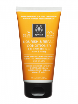 Apivita Nourish & Repair Contitioner For Dry-Damaged Hair με Ελία & Μέλι 150ml