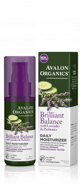 Avalon Organics Brilliant Balance Daily Moisturizer with Lavender & Prebiotics 57g