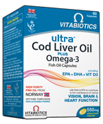 VITABIOTICS ULTRA 2 in 1 COD LIVER OIL 60CAPS