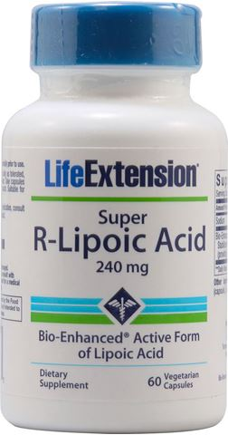 Life Extension Super R-Lipoic Acid 60 Veg. Caps