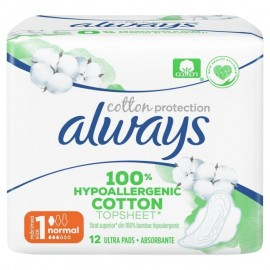 Always Σερβιέτες Cotton Protection No1 Normal 12τμχ