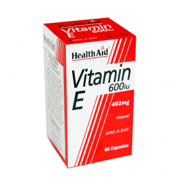 HEALTH AID VITAMIN E 600IU NATURAL CAPSULES 60S