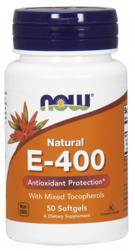 Now Foods E400 With Mixed Tocopherols 50 Softgels