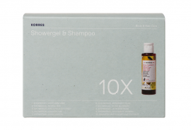 Korres Set Showergel & Shampoo 10pcs 40ml