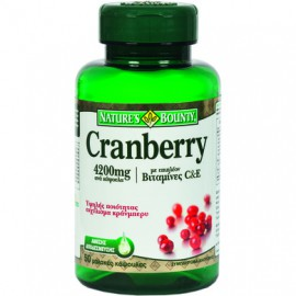Natures Bounty Cranberry 4200mg με Βιταμίνες C & E 50softgels