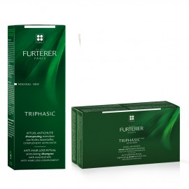 Rene Furterer Set Triphasic Progressive Rituel Antichute 8vialsx5,5ml + Rene Furterer Triphasic Shampoo 200ml