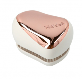 Tangle Teezer On-the-go Detangling Hairbrush Smooth and Shine Compact Styler Rose Gold/Ivory 1τμχ
