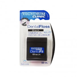Elgydium Dental Floss Black Chlorhexidine 50m