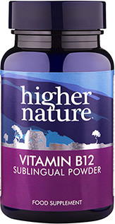 Higher Nature B12 Vitamin 200mcg Sublingual Powder 30gr