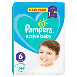 Pampers Active Baby Maxi Pack No.6 (13-18kg) 44τμχ