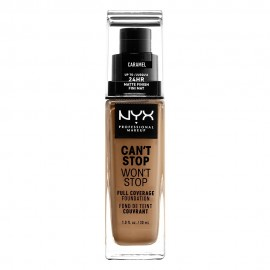 NYX PM Cant Stop Wont Stop Full Coverage Foundation  15 CARAMEL 30ml