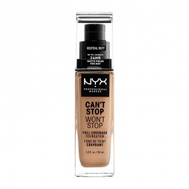 NYX PM Cant Stop Wont Stop Full Coverage Foundation  10,3 Neutral Buff 30ml