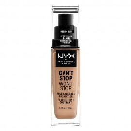 NYX PM Cant Stop Wont Stop Full Coverage Foundation  10,5 MEDIUM BUFF 30ml