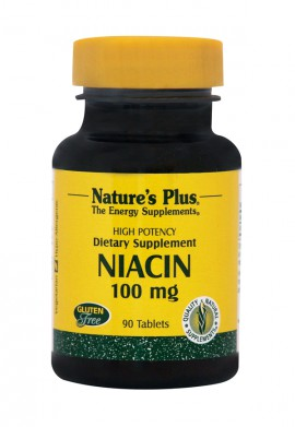 NATURES PLUS Niacin (Nicotinic Acid, B3) 100 mg 90tabs