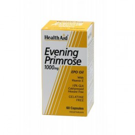 HEALTH AID EVENING PRIMROSE OIL 1000MG + VITAMIN E VEGETARIAN CAPSULES 30S