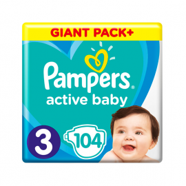 Pampers Active Baby Giant Pack No.3 (6-10kg) 104τμχ