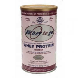 SOLGAR WHEY TO GO PROTEIN 80% ΦΡΑΟΥΛΑ 454GR