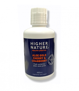 Higher Nature Aloe Gold Cherry and Cranberry 485ml