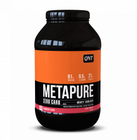QNT Metapure Zero Carb Whey Isolate Protein Powder Strawberry 908g