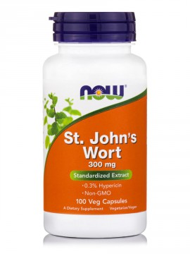 Now Foods St. Johns Wort Extract 300mg 100 Veg.Caps.