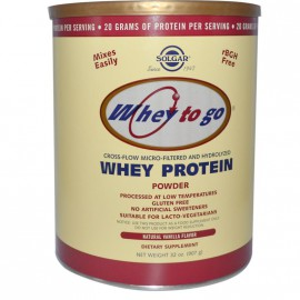 SOLGAR WHEY TO GO PROTEIN VANILLA powder 907gr