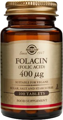 Solgar FOLIC ACID 400μg tabs 100s