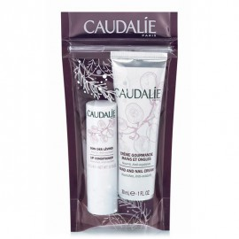 Caudalie Hand and Nail Cream 30ml + Lip Conditioner 4.5g