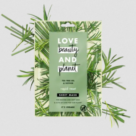Love Beauty And Planet Face Sheet Mask Tea Tree Oil & Vetiver 21ml