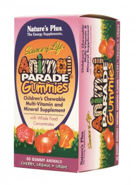 Natures Plus ANIMAL PARADE GUMMIES ASSORTED 50