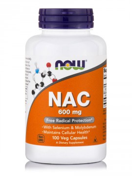 Now Foods Nac 600mg 100 Veg.Caps.