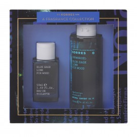 Korres Set Mens Essentials Blue Sage Lime Fir Wood Eau de Toilette 50ml + Δώρο Blue Sage Lime Fir Wood Showergel 250ml