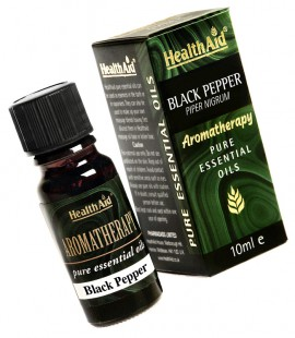 Health Aid Aromatherapy BLack Pepper Oil (Piper nigrum) 10ml