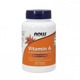 Now Foods Vitamin A  25,000 IU From Fish Liver Oil 250 Softgels