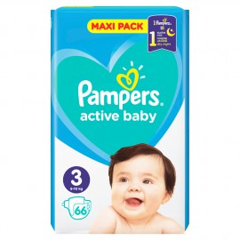 Pampers Active Baby Maxi Pack No.3 (6-10Kg) 66τμχ